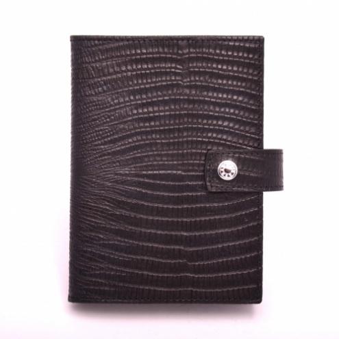 Обложка для паспорта и прав Neri Karra 0031.1-32.01 кожаная черная