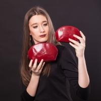 Набор из 2-х косметичек Tony Perotti Italico 1583L+M rosso кожаный красный 95308c10130