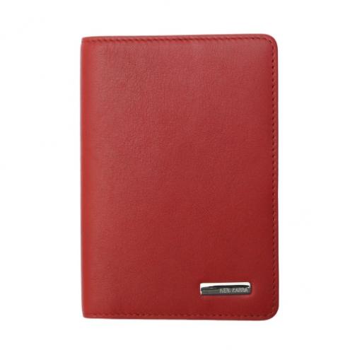 Обложка для паспорта Neri Karra 0040.3-01.05 кожаная красная