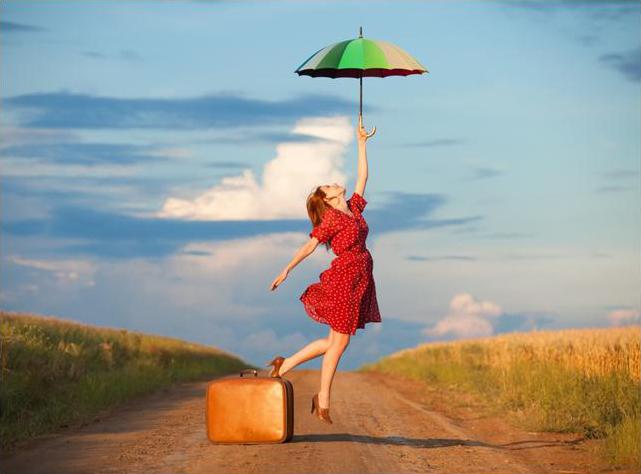 К чемодану - зонт в подарок