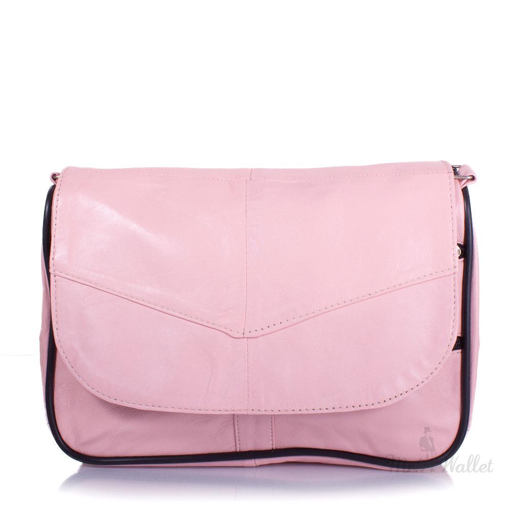 679d01158bd1 Маленькая женская сумка кросс-боди Yunona 2409-13 кожаная нежно-розовая