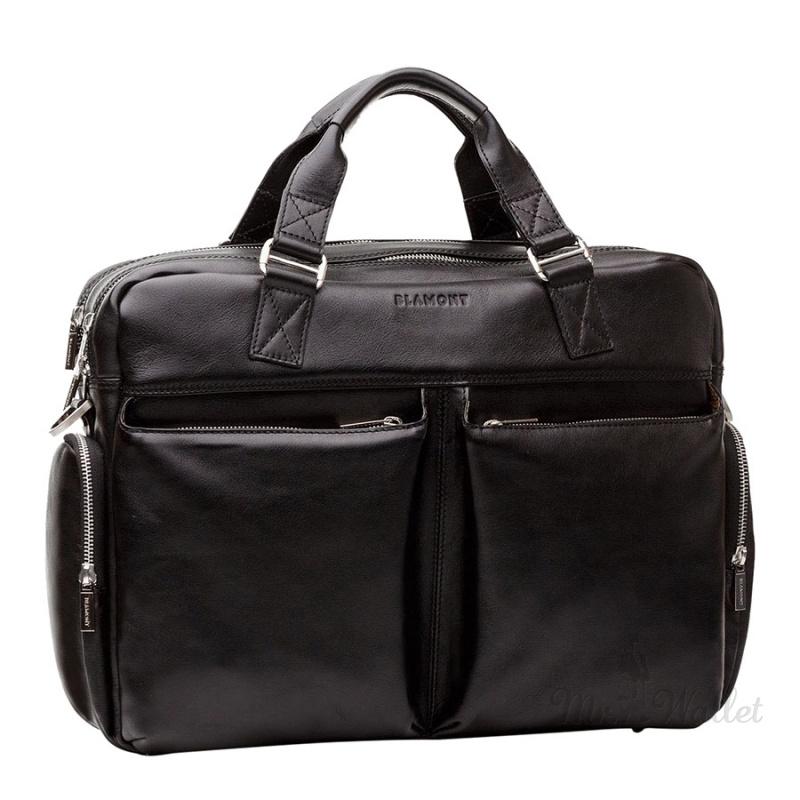 6d40cfa4a9ec ᐉ Сумка Blamont Bn002A кожаная черная для ноутбука 17