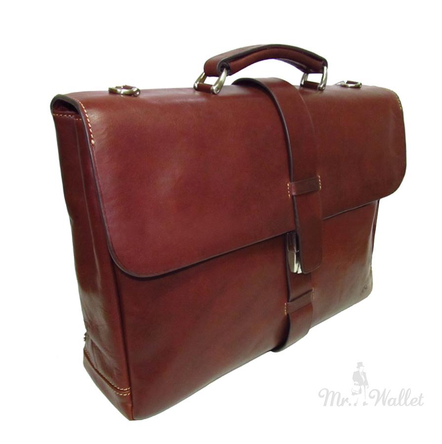 4eab89383493 Портфель Tony Perotti Just 9596G-40 moro кожаный коричневый мужской