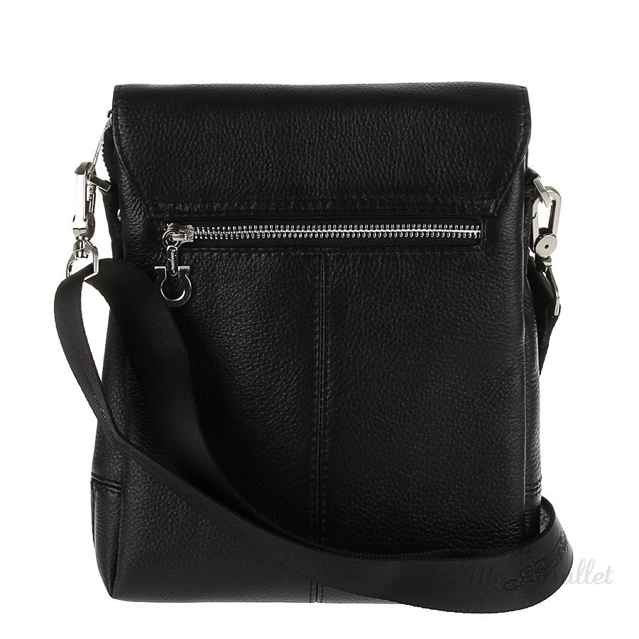 89402425c536 ᐉ Кожаная сумка мужская черная Salvatore Ferragamo 49690-2 купить в ...