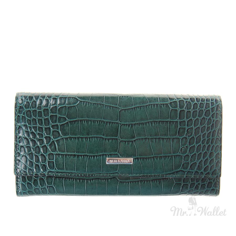 498a4bdd805f ᐉ Кошелек Neri Karra 0597.8-35.32/3-01.06 кожаный темно-зеленый ...