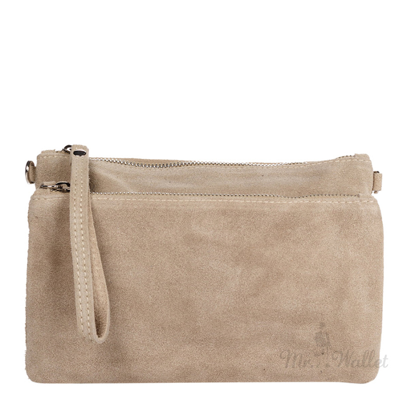 67774979e432 ᐉ Клатч Italian bags 1512_beige замшевый бежевый купить в Киеве ...
