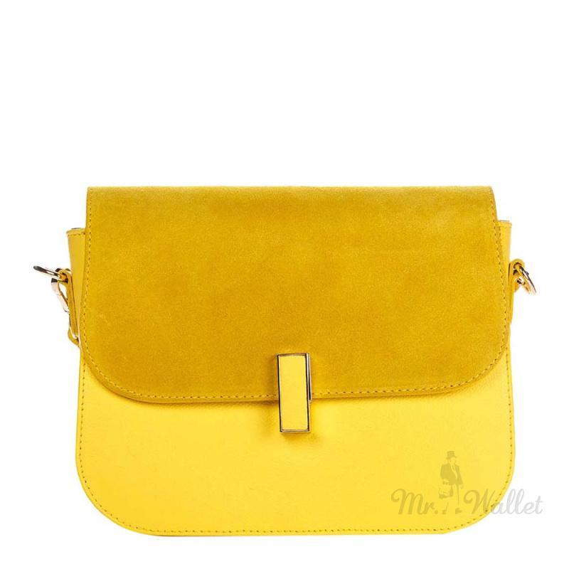 9e7b8c7e3ef3 ᐉ Сумка Italian bags 1655_yellow кожаная желтая купить в Киеве ...