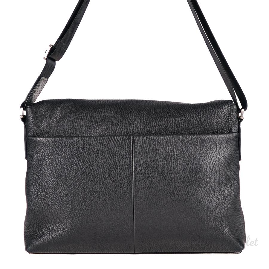 91e70c457e84 Кожаная сумка мужская черная Valenta BM702981