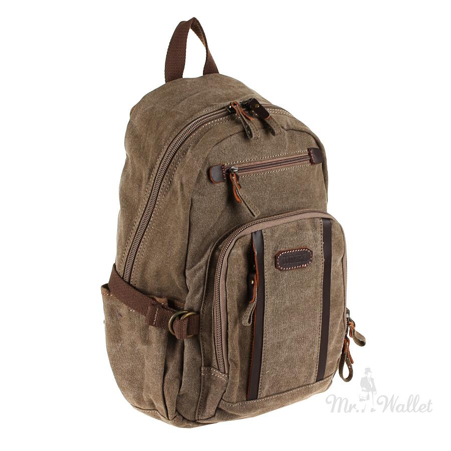 16f132c47898 Рюкзак Tony Perotti Country 1014 moro тканевый серо-коричневый мужской