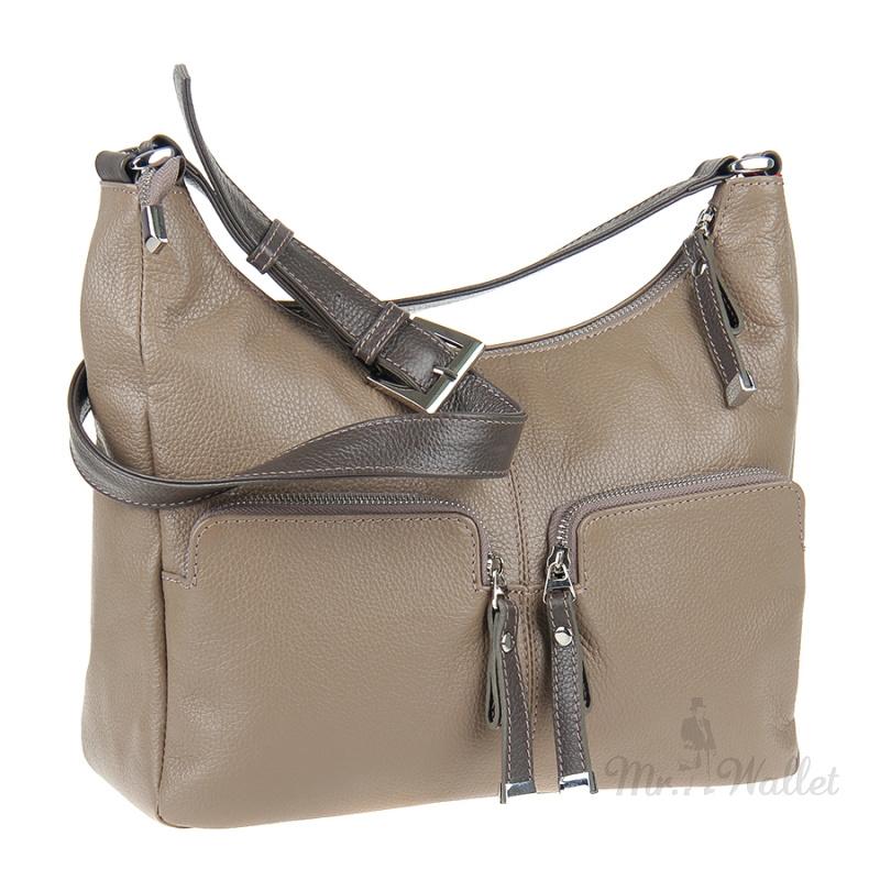 46e221d9d1a4 Кожаная сумка женская цвета