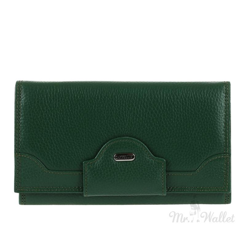 b751a9314eb7 ᐉ Кожаный кошелек женский зеленый Canpellini 2033-299 купить в ...