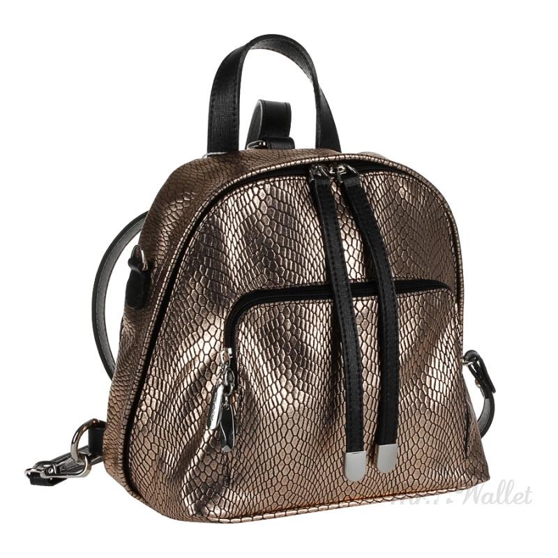 ac29df8b76b3 ᐉ Рюкзак Assa 1055/м кожаный черный с золотом