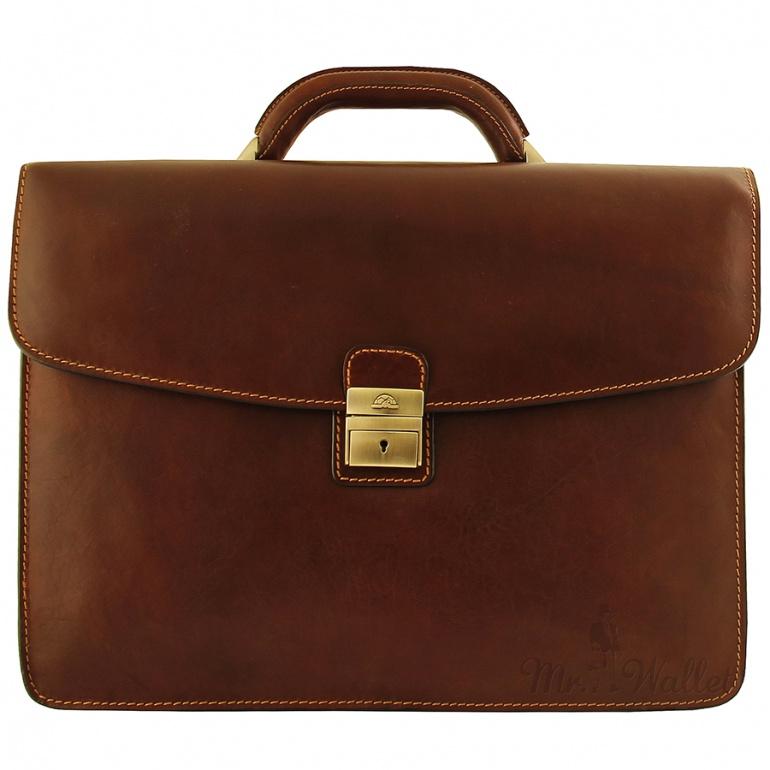 6b8bb0311c63 Портфель Tony Perotti Italico 8071 moro кожаный коричневый мужской