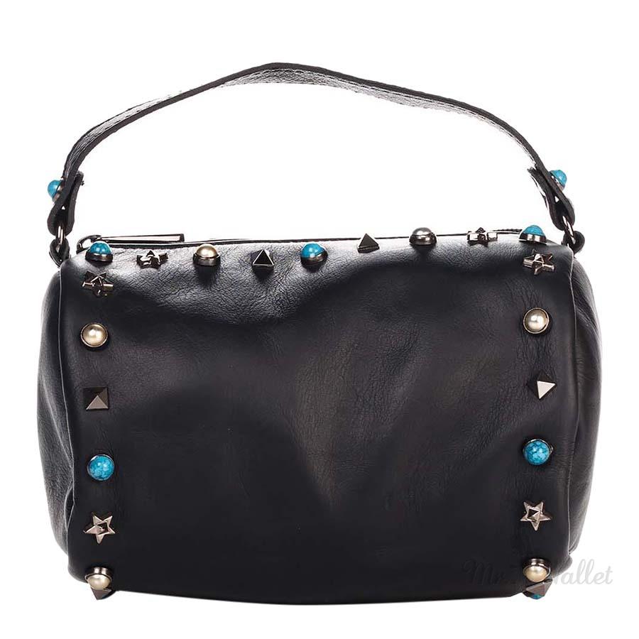 5e42f0c8fb83 ᐉ Сумка Italian bags 1519_black кожаная черная женская купить в ...