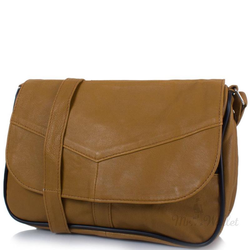 2126d1cb07b5 ᐉ Маленькая женская сумка кросс-боди Yunona 2409-24 кожаная цвет ...