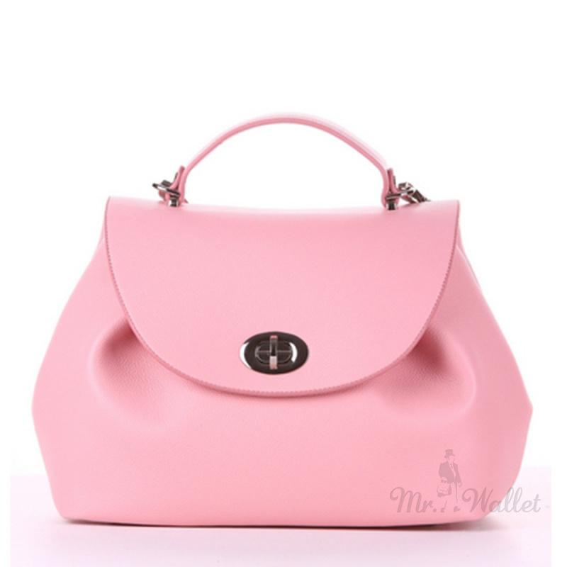 41309b6275c1 ᐉ Сумка-саквояж женская Alba Soboni 190009 из ЭКО-кожи розовая ...