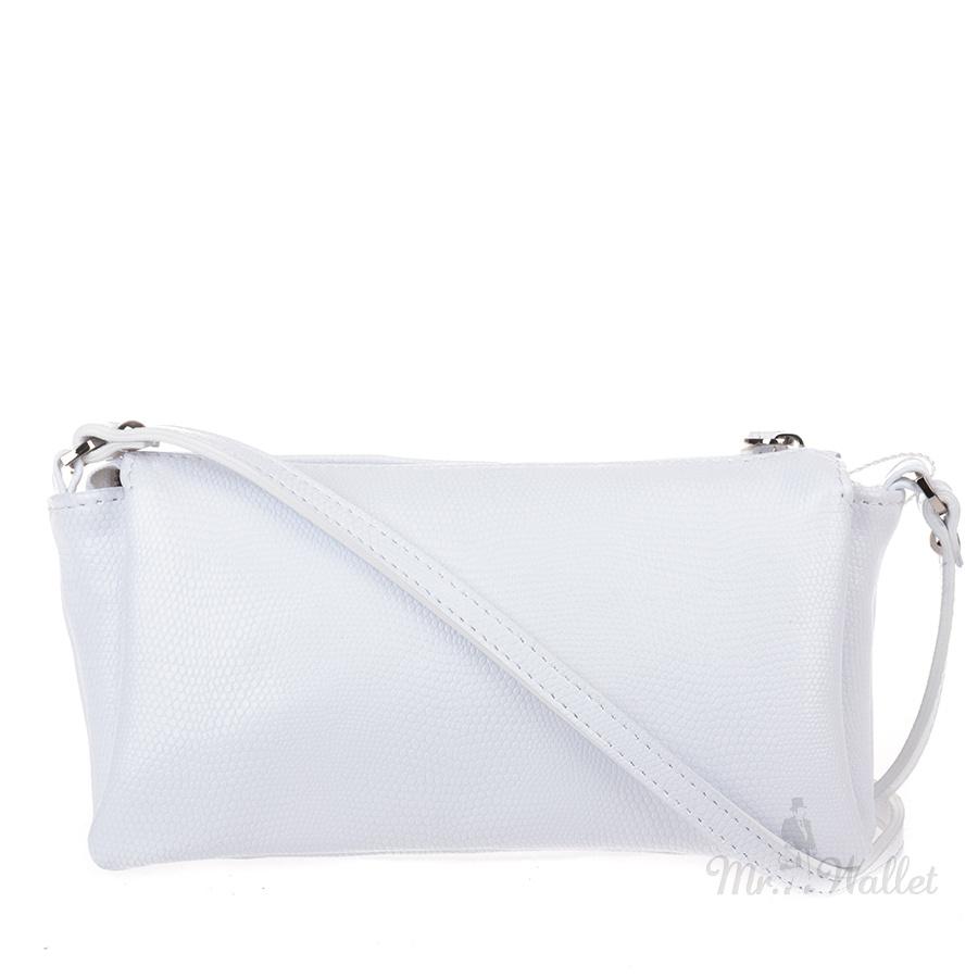 9a9920e27768 ᐉ Клатч Assa 881м кожаный белый