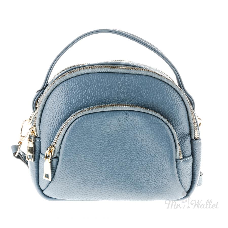 de1fcd2122b0 ᐉ Сумка Viva 1834156 маленькая кожаная через плечо голубая купить в ...