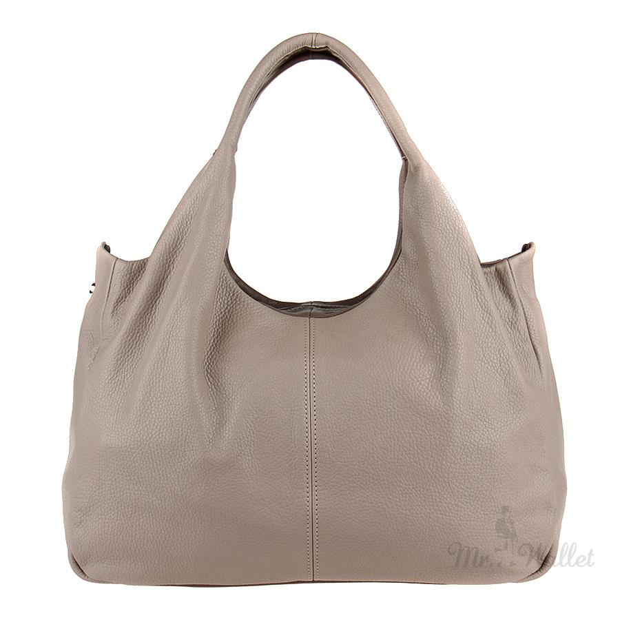 dffc1559dea1 ᐉ Кожаная сумка женская бежевого цвета Diamond 1464-к купить в ...