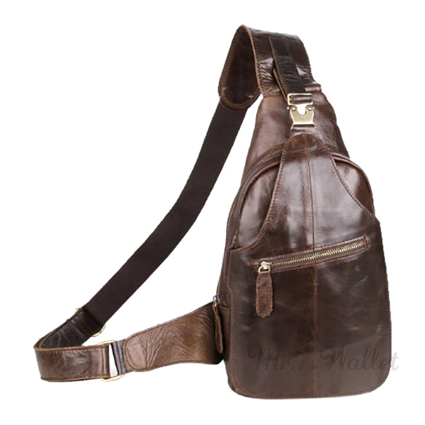 8366f7b23d3f ᐉ Рюкзак на одно плечо Blamont 2467C кожаный коричневый мужской ...