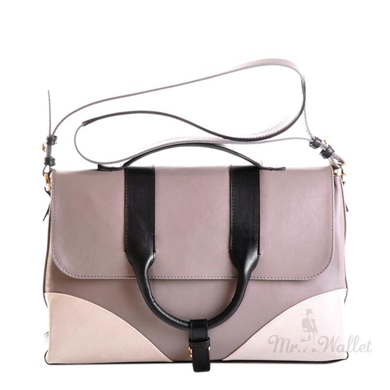 972a294750f8 Кожаная женская сумка серая Venison 622-сер