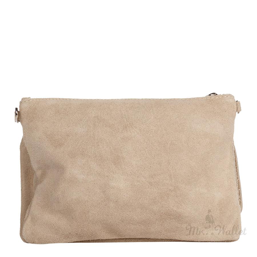 dc095529bb5c ᐉ Клатч Italian bags 1512_beige замшевый бежевый купить в Киеве ...