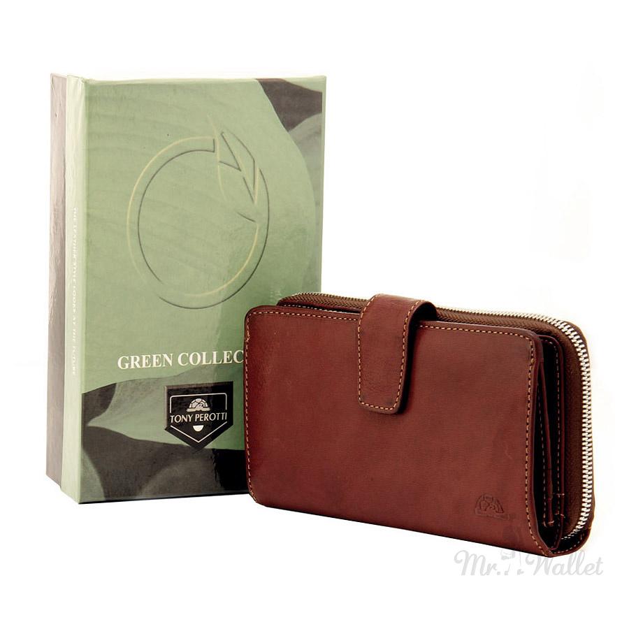 1f02bb915a56 ᐉ Кошелек Tony Perotti Just 2649A-Z moro кожаный коричневый купить ...