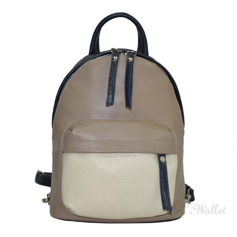 14204dc51ba3 ᐉ Рюкзак Vera Pelle 2231-5 кожаный комбинированный женский купить в ...