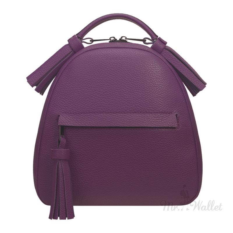 4d3681453ad8 ᐉ Кожаный женский рюкзак лиловый Fidelitti 027/6057/Lu купить в ...
