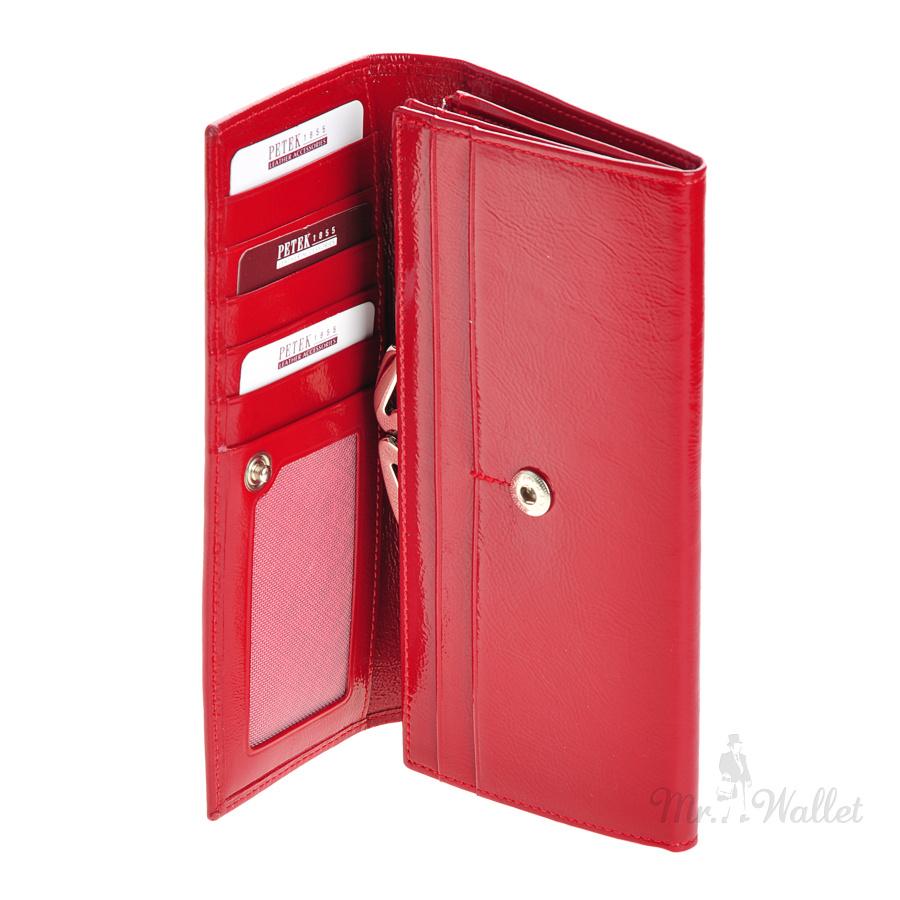 f2a2b19f1f8d ᐉ Кошелек женский кожаный красный Petek 400.052.10 купить в Киеве ...
