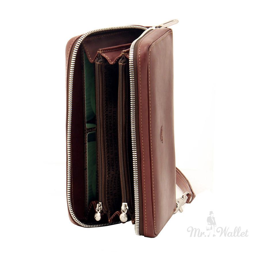 57486ef486ff ᐉ Кошелек Tony Perotti Just 2998 Z moro кожаный коричневый купить в ...