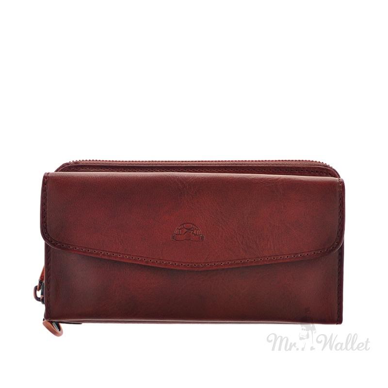 251bcfe9938a ᐉ Кошелек-клатч Tony Perotti Vintage 1913 mogano кожаный коричневый ...