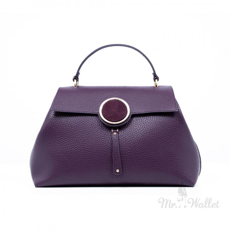 726d15b560f4 Сумка-саквояж Gilda Tonelli T0790cervino кожаная фиолетовая женская