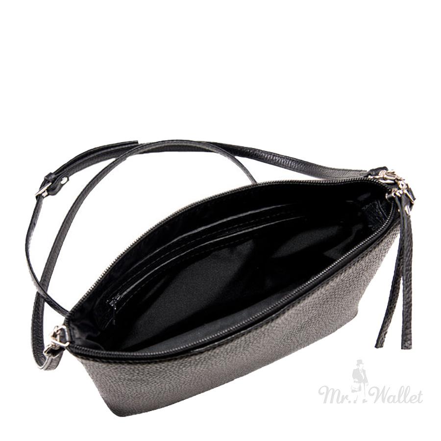 ff2d06d8ea56f ᐉ Кожаная сумка женская черная Issa Hara КСЕНИЯ (11-00) купить в ...