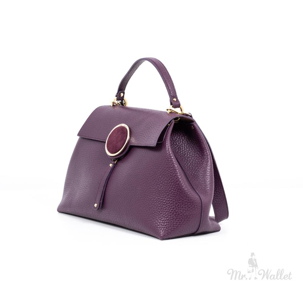 7b280ad463fa Сумка-саквояж Gilda Tonelli T0790cervino кожаная фиолетовая женская