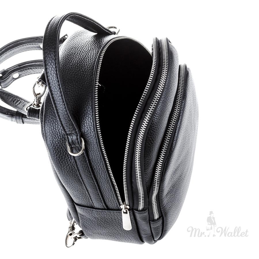 a2d0f46c2bc7 ᐉ Сумка-рюкзак Vera Pelle 2166-5 кожаная черная женская купить в ...