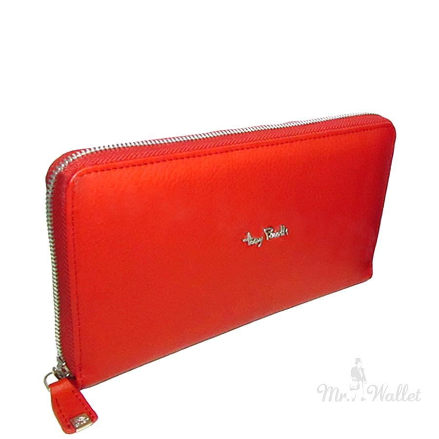 6d356a905003 ᐉ Кожаный кошелек женский красный Tony Perotti Contatto 2970 rosso ...
