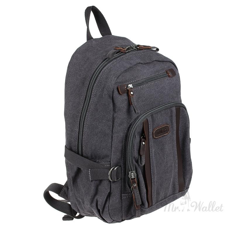 b267adcecfd8 Рюкзак Tony Perotti Country 1014 nero тканевый темно-серый мужской