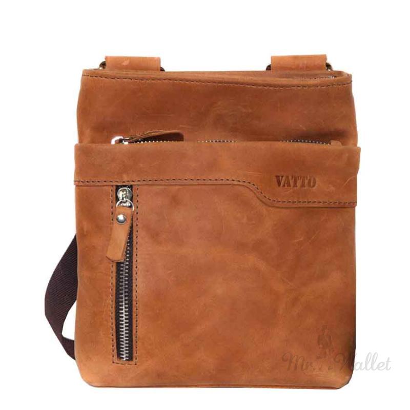 b0c991d3889b Кожаная сумка мужская рыжая Vatto Mk13Kr200