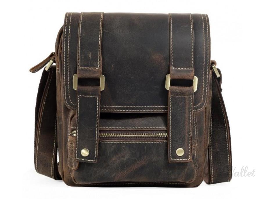 0b8bfa585c3a ᐉ Мессенджер кожаный TIDING BAG T1172 коричневый купить в Киеве ...