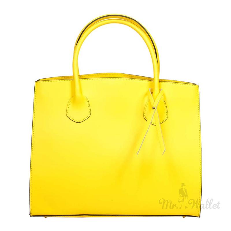 f0e9a6662bb Сумка Italian bags 8983_yellow кожаная желтая