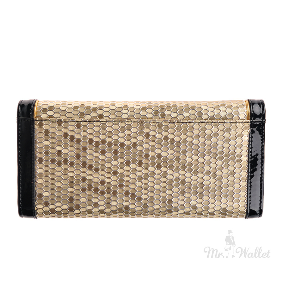ddb97a495266 ᐉ Кожаный кошелек женский черный с золотым Moro & Jenny 57-71 ...