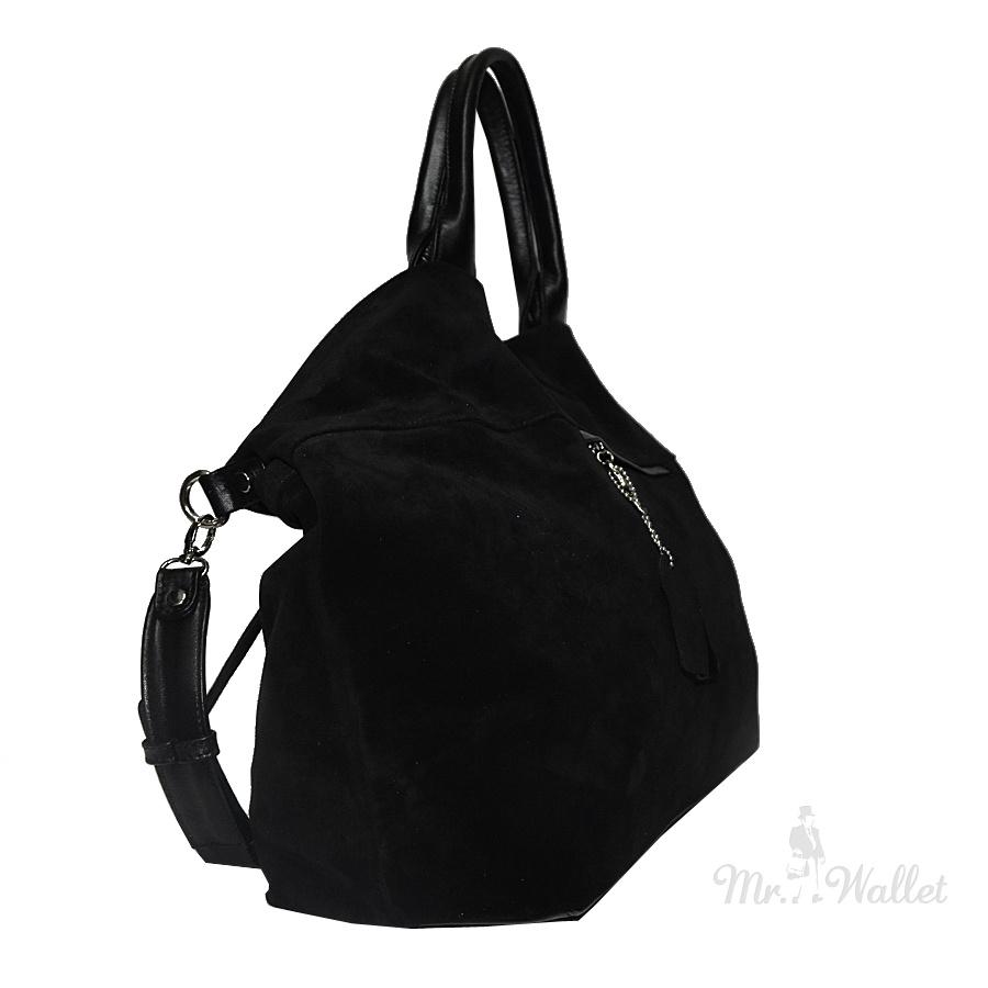 adeceffc1463 ᐉ Замшевая сумка женская черная Lazurite 1556-2 купить в Киеве ...