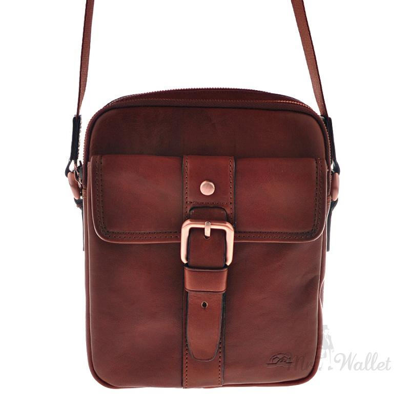 e2fa7a0ad8e ᐉ Кожаная сумка мужская коричневая Tony Perotti Vintage 9155-17/SB ...