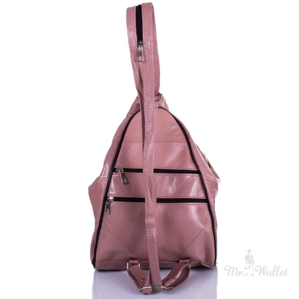 b1450d31a5ca ᐉ Рюкзак-трансформер Yunona 2404-13 кожаный женский цвета пыльная ...