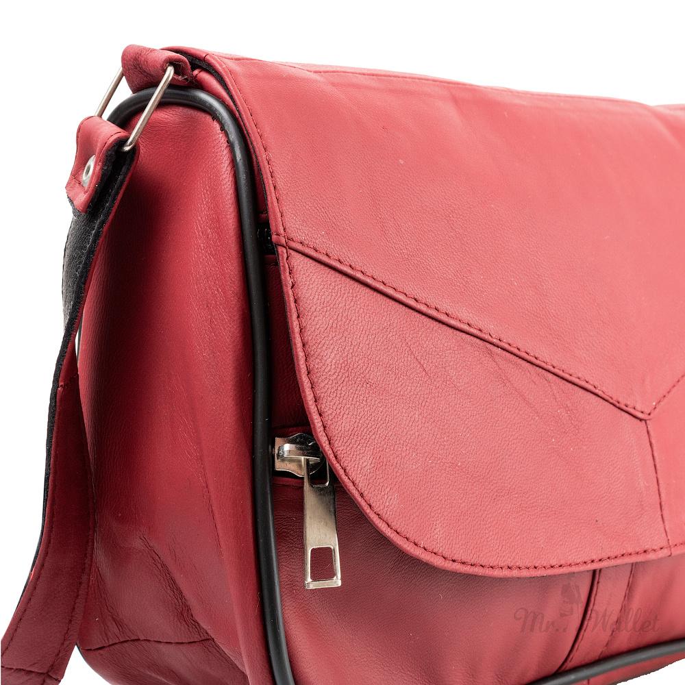989660679e23 Маленькая женская сумка кросс-боди Yunona 2409-33 кожаная нежно-коралловая