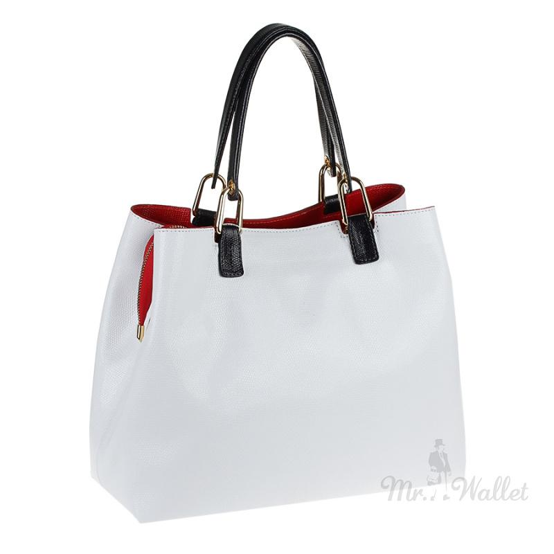 b2aac851d3dc ᐉ Кожаная сумка женская белая