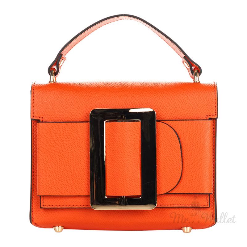 7002a5643d2d ᐉ Сумка Italian bags 1683_orange кожаная оранжевая купить в Киеве ...
