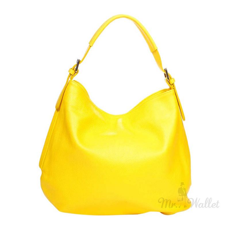b333fb4cb52 Сумка Italian bags 8944_yellow кожаная желтая