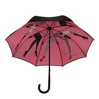 6f9603cebce9 Зонт-трость Chantal Thomass 250 col-bis черный с розовым механический  двухслойный